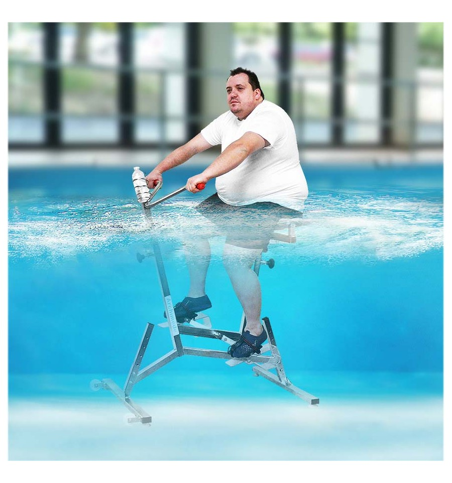 V lo de piscine sp cial xxl aquabike priv archim de for Velo elliptique piscine