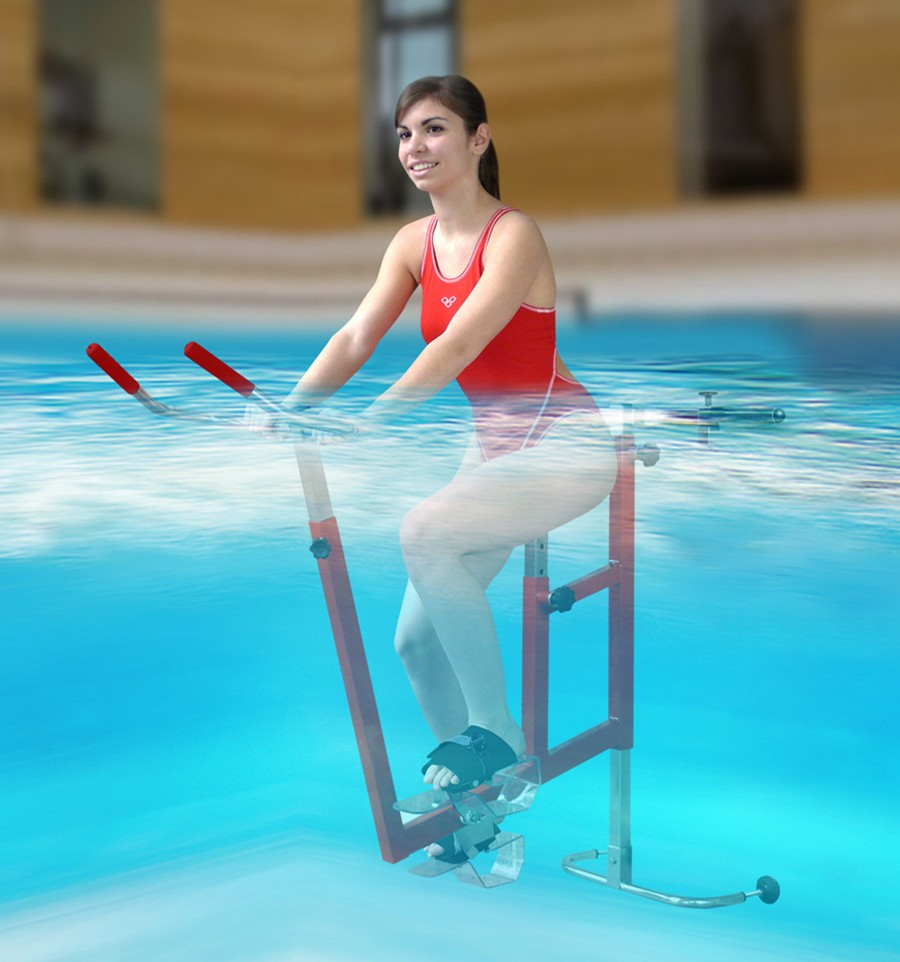 V lo suspendu de piscine aquabike sp cial archim de for Velo elliptique piscine