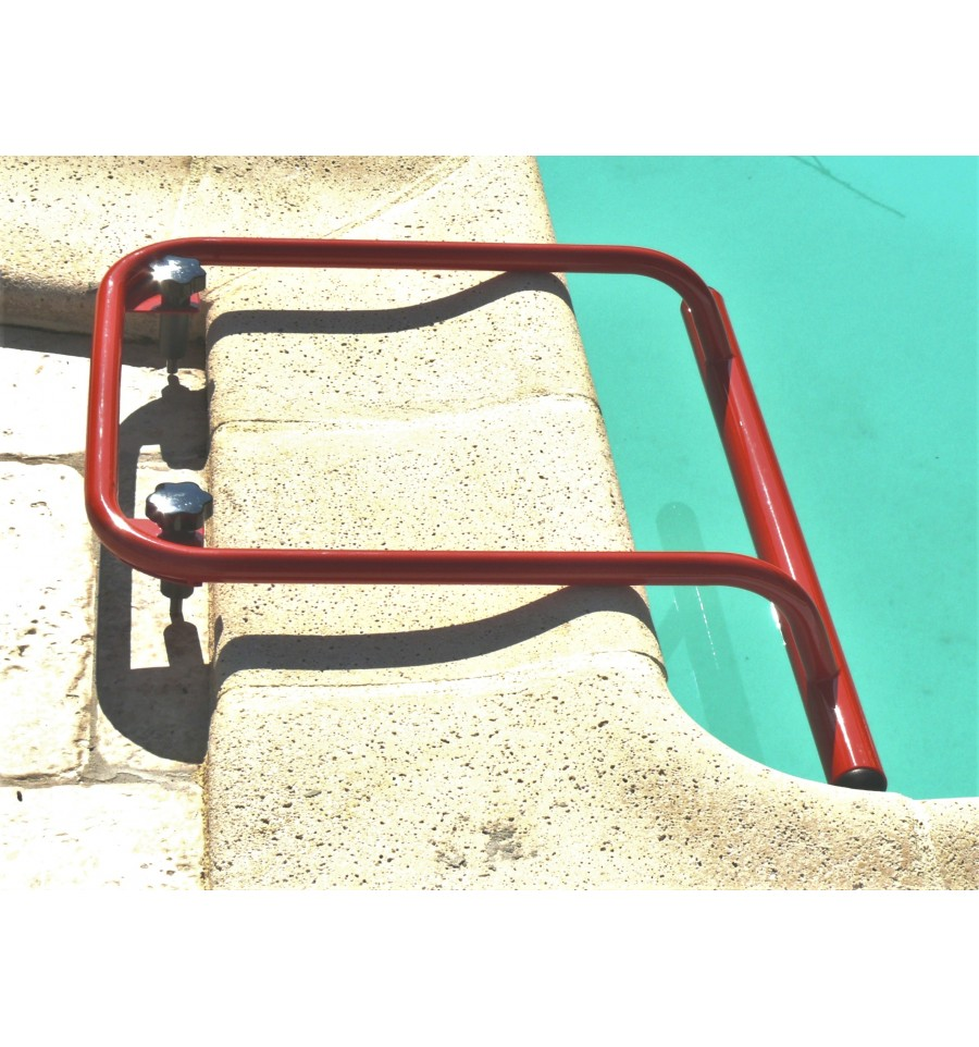 Removable suspension bar or handrail for swimming pool by - Removable swimming pool handrails ...